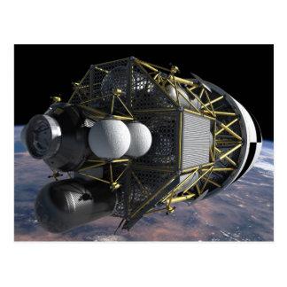 Lancha de desembarque lunar de la altaír postales