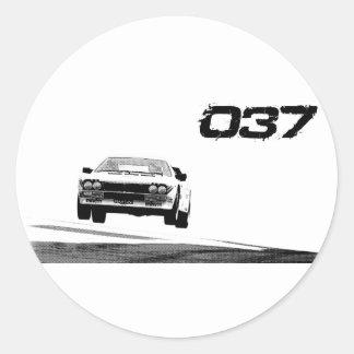 Lancia 037 classic round sticker