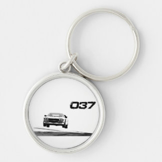Lancia 037 Silver-Colored round keychain