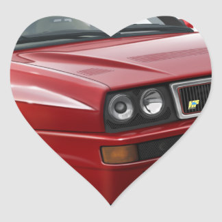 Lancia Integrale Heart Sticker
