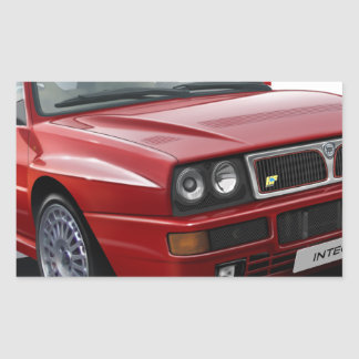 Lancia Integrale Rectangular Sticker