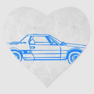 Lancia Stratos Heart Sticker