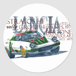 Lancia Stratos HF Classic Round Sticker