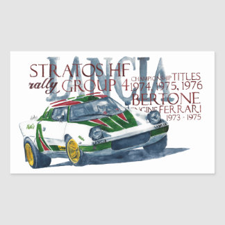 Lancia Stratos HF Rectangular Sticker