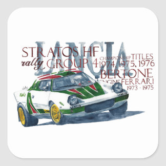 Lancia Stratos HF Square Sticker