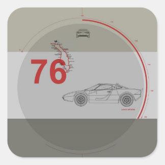 Lancia Stratos Square Sticker
