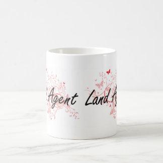 Land Agent Artistic Job Design with Butterflies Coffee Mug