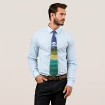 Land Air and Sea Landscape Neck Tie