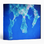 Land and Sea from Space 3 Ring Binder