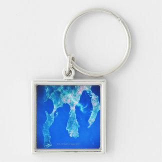 Land and Sea from Space Keychains