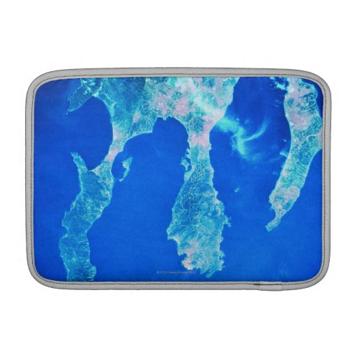 Land and Sea from Space MacBook Air Sleeves