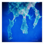 Land and Sea from Space Print