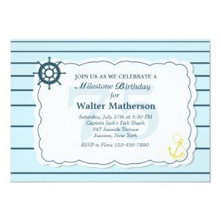 Land and Sea Nautical Invitation