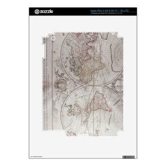 Land and Water Map iPad 3 Decals