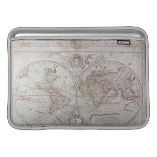 Land and Water Map MacBook Sleeves