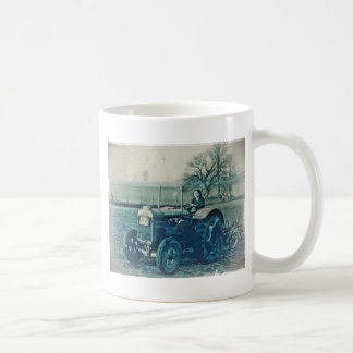 Land Army Woman Driving a Tractor Coffee Mug