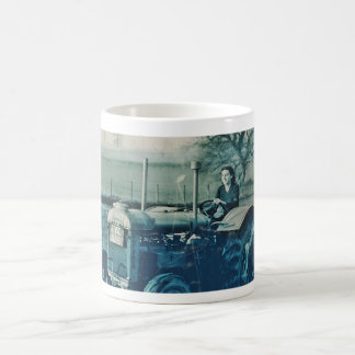 Land Army Woman Driving a Tractor Classic White Coffee Mug