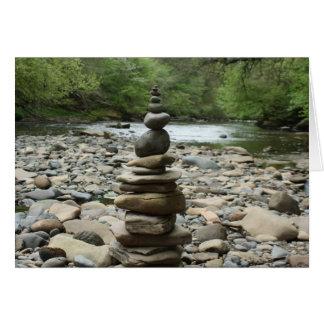Land Art Sculpture - Cairn - Fine Art Photography Card