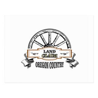 land claim oregon postcard