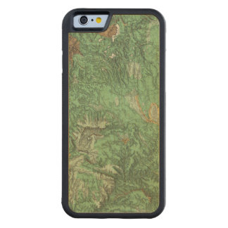 Land Classification Map of California Carved Maple iPhone 6 Bumper Case