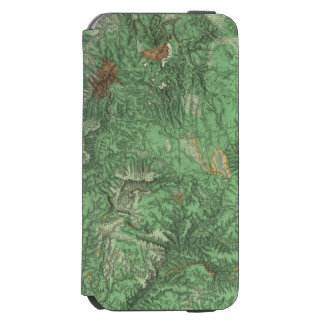 Land Classification Map of California iPhone 6/6s Wallet Case