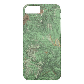 Land Classification Map of California iPhone 7 Case