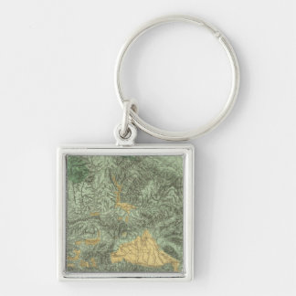 Land Classification Map of California Keychain