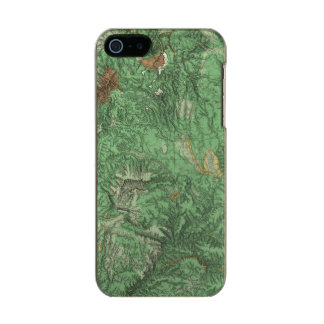 Land Classification Map of California Metallic Phone Case For iPhone SE/5/5s