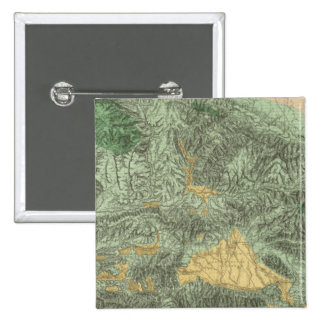 Land Classification Map of California Pinback Button