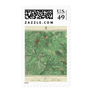 Land Classification Map of California Postage
