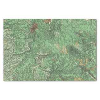 Land Classification Map of California Tissue Paper