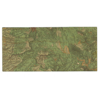 Land Classification Map of California Wood Flash Drive