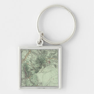 Land Classification Map of Central New Mexico Keychain