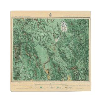 Land Classification Map of Idaho Maple Wood Coaster