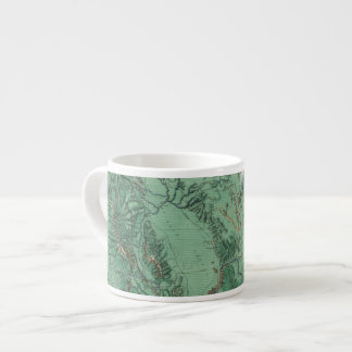 Land Classification Map of Idaho 6 Oz Ceramic Espresso Cup