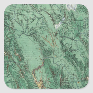 Land Classification Map of Idaho Square Sticker