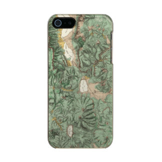 Land Classification Map of Nevada Metallic Phone Case For iPhone SE/5/5s