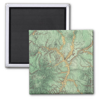 Land Classification Map of New Mexico 2 2 Inch Square Magnet