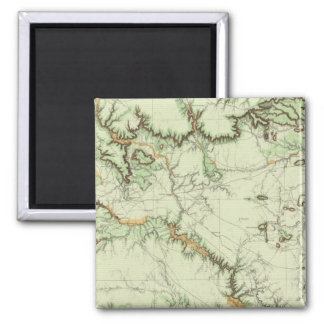 Land Classification Map of New Mexico 2 Inch Square Magnet