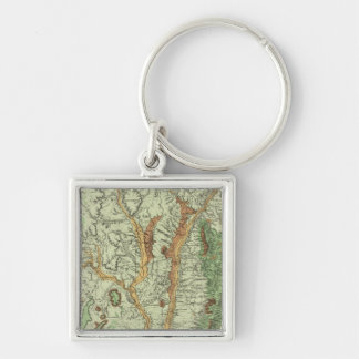 Land Classification Map of New Mexico 2 Keychain