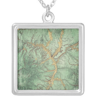 Land Classification Map of New Mexico 2 Silver Plated Necklace