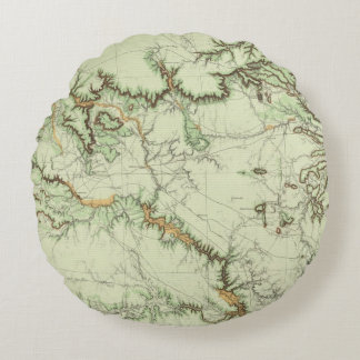 Land Classification Map of New Mexico Round Pillow