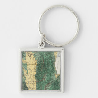 Land Classification Map of North Eastern Utah Keychain