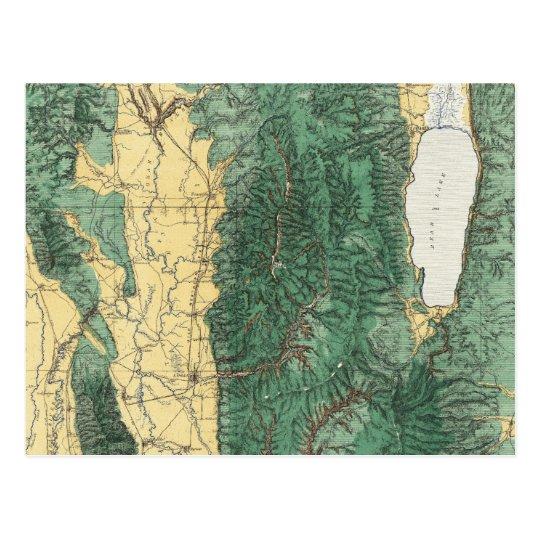 Land Classification Map of North Eastern Utah Postcard