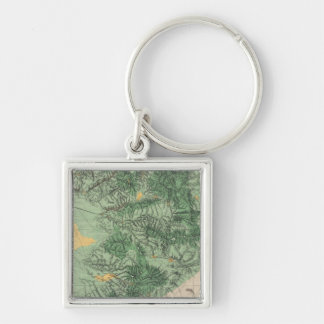 Land Classification Map of Southern California Keychain