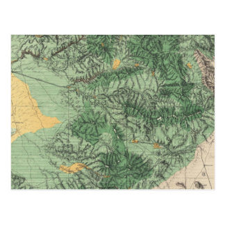 Land Classification Map of Southern California Postcard