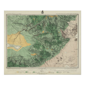 Land Classification Map of Southern California Poster