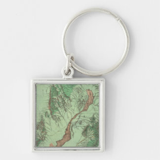 Land Classification Map of Southwestern New Mexico Keychain