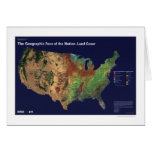 Land Cover In USA Map 1992 Greeting Cards
