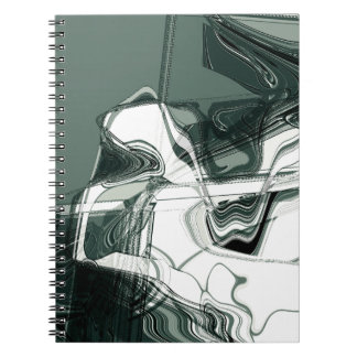Land Formations Abstract Art Notebook